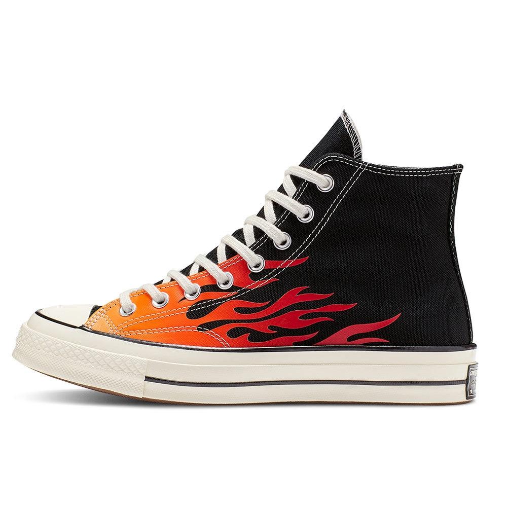 CONVERSE CHUCK 70 HI BLACK/ENAMEL RED 男女休閒鞋 165024C 火焰黑