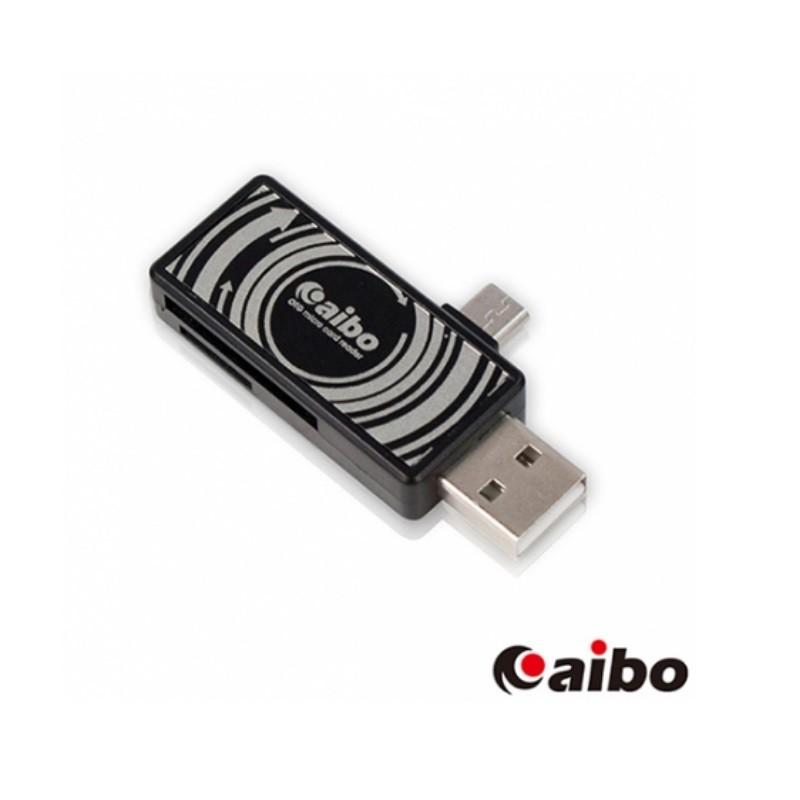 aibo OTG115 雙介面 OTG讀卡機 (USB A公+SD/TF讀卡)