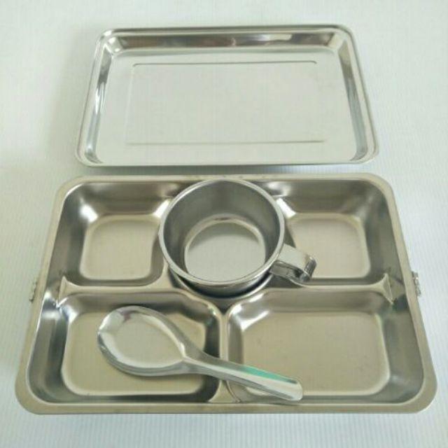 蝴蝶牌304不鏽鋼五格餐盤 不銹鋼餐盤 餐盒 便當盒 不銹鋼便當盒