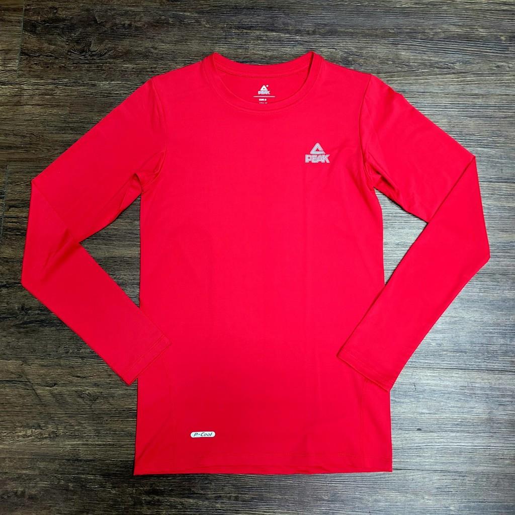PEAK 專業運動機能緊身長袖T恤 紅 亮禹體育PEAK經銷商