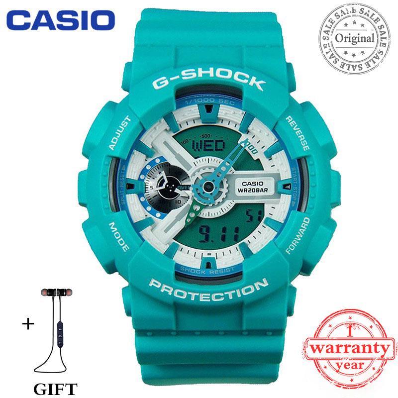 原裝保修卡西歐G衝擊手錶男士運動手錶GA-110SN-3A