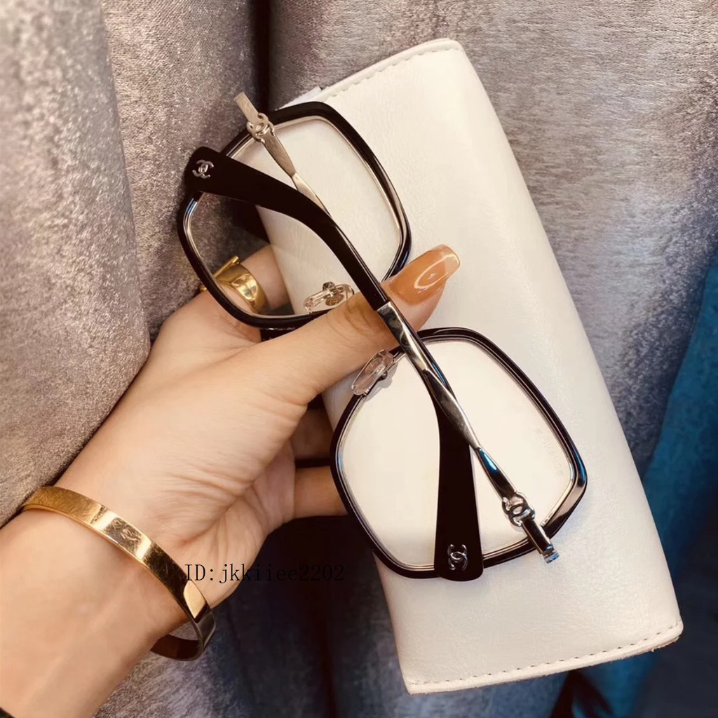 代購CHANEL香奈兒 光學鏡 平光近視眼鏡架 素顏框 方形大框眼鏡 護目鏡 防藍光抗輻射 超輕時尚潮流瘦臉百搭太陽眼鏡