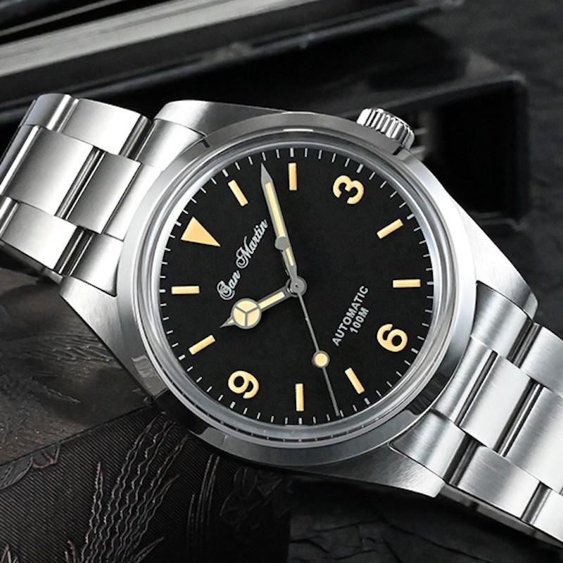 san martin 聖馬丁復古錶 機械錶 全金屬潛水錶 探險家復古錶