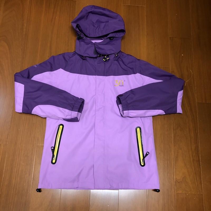 (Size S) 皮爾帕門 Pierre Balmain 紫藕色 防水防風刷毛保暖連帽外套(4)