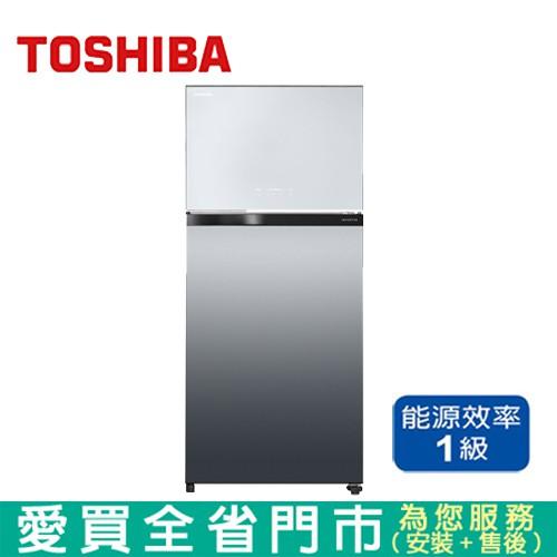 TOSHIBA東芝608L雙門玻璃變頻冰箱GR-AG66T(X)含配送+【愛買】
