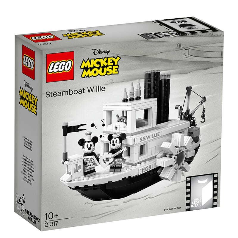 ⚡『特惠』👉LEGO樂高積木 21317迪士尼米奇米妮汽船威利男孩女孩益智拼搭玩具