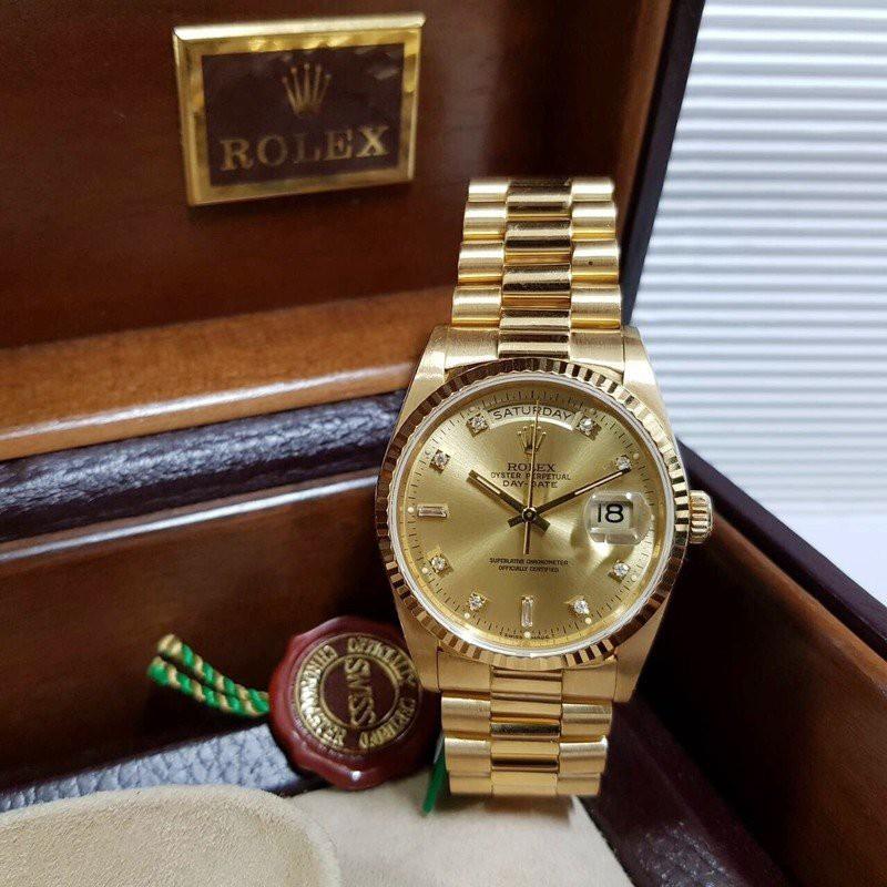 ROLEX勞力士 18k金 紅蟳 原廠證書配件齊全 18238 錶徑36mm