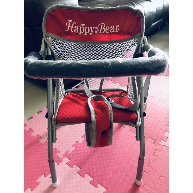 。全新商品。  機車椅Happy Bear,附安全帶,高度可調整
