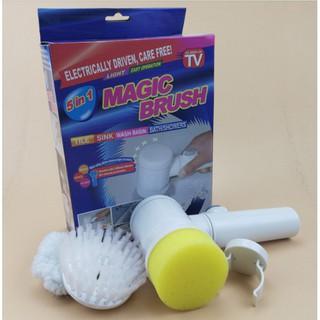 三合一機車清潔打蠟組 Magic Brush 多功能強力電動清潔刷 洗車刷 洗車海綿 清潔器
