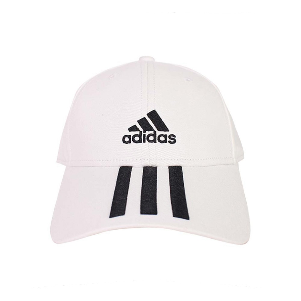 ADIDAS 帽 老帽 運動帽 棒球帽 白色 三線 BBALL 3S CAP CT - FQ5411