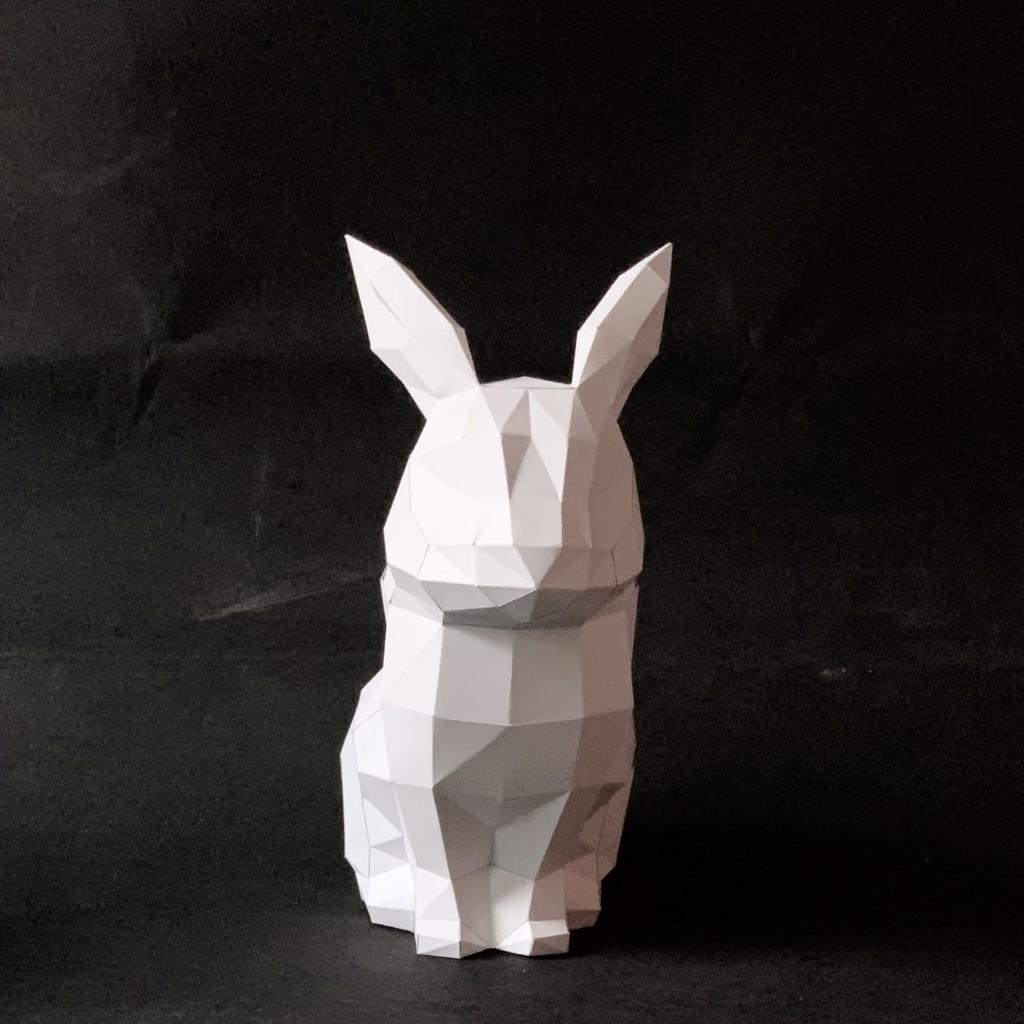 匠紙3D立體手作紙模型_兔子擺飾_DIY Kits_手作組合