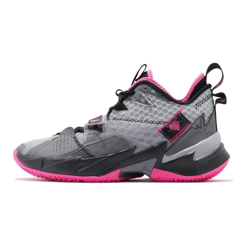 Nike 籃球鞋 Jordan Why Not Zer0.3 PF 黑 灰 粉紅 男鞋 【ACS】 CD3002-003