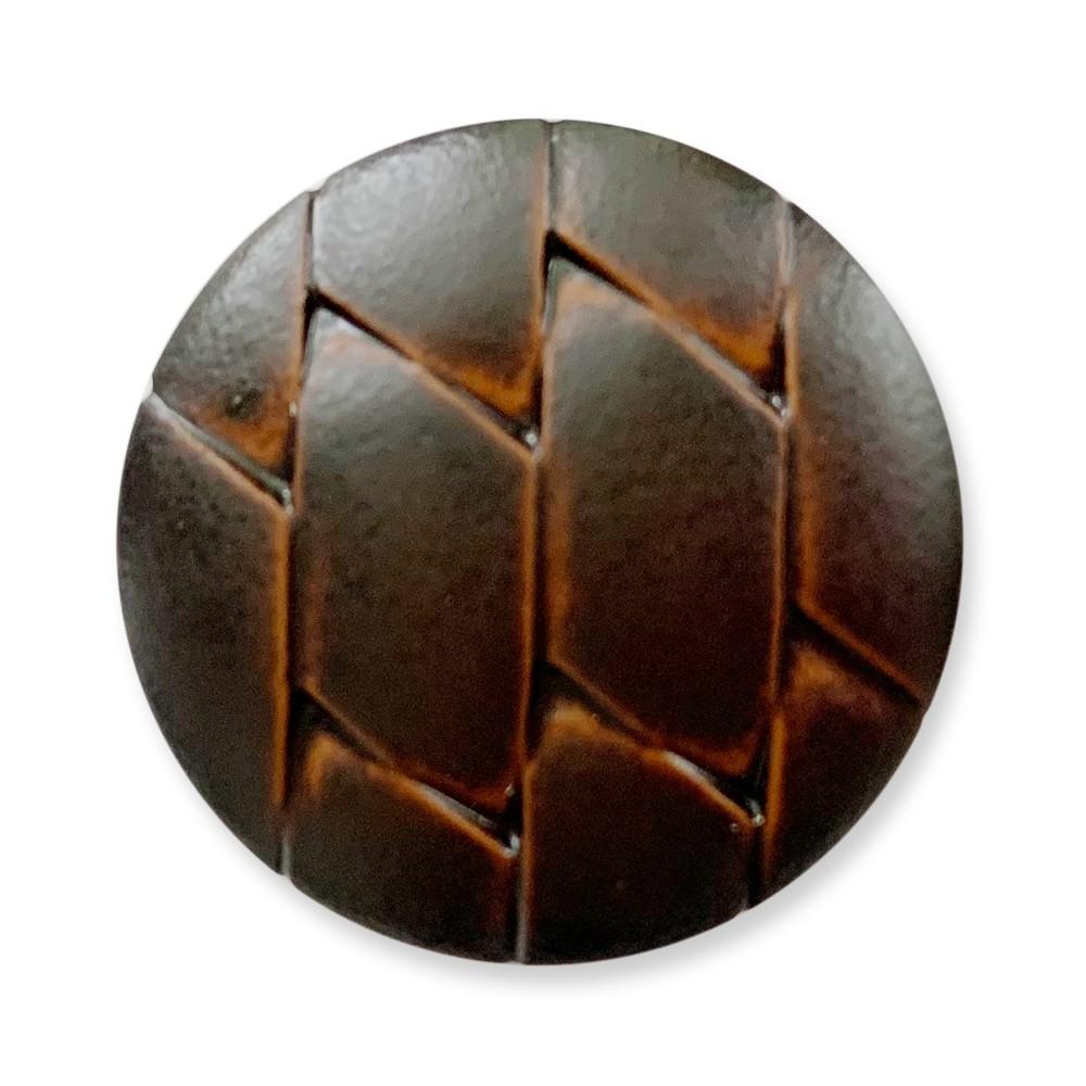 菱格立腳 尼龍仿皮釦 仿皮鈕釦 10顆/組 義大利進口 0265 咖啡色