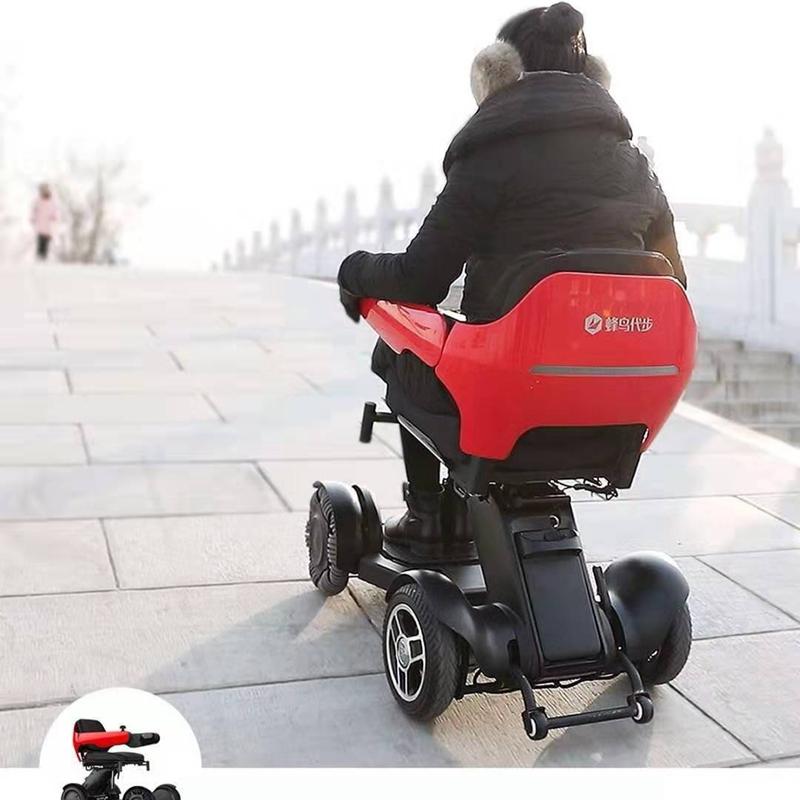 【現貨免運】蜂鳥代步車全路況模塊化拆卸四輪電動車一鍵摺疊智能遙控摺疊車