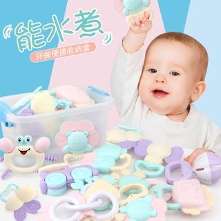 嬰兒玩具3-6-12個月新生幼兒手搖鈴0-1歲寶寶益智男女孩可咬牙膠
