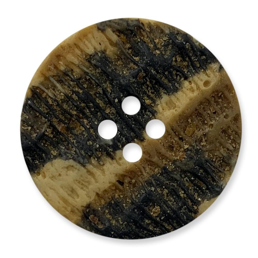 義大利製 樹脂釦 岩石感紋路 4孔 polyester 10顆/組 西服鈕釦 6453 3號色