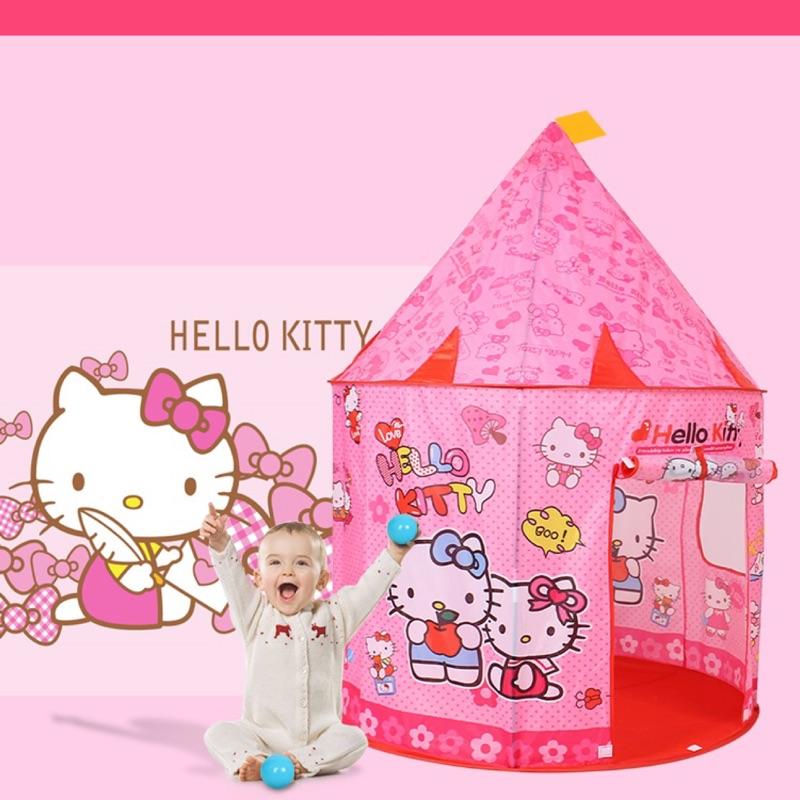 """Hello kitty""""粉紅凱蒂貓 公主城堡款帳篷 蒙古包帳篷 夢幻房 遊戲屋 球池"""