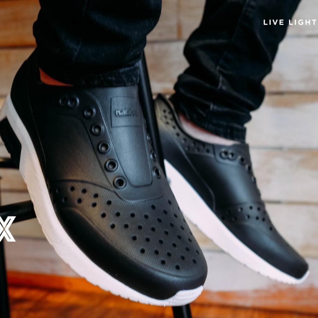 🔥永和簽約正品現貨🔥Native LENNOX 雷諾系列 雷諾鞋 懶人鞋 洞洞鞋  晴雨兩穿 瞬黑 男女尺寸