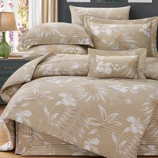 80支頂級雙線銀纖天絲 【雙人 加大 特大組合】規格可選  兩用被床包四件組 七件式鋪棉床罩組 英格麗 台中市