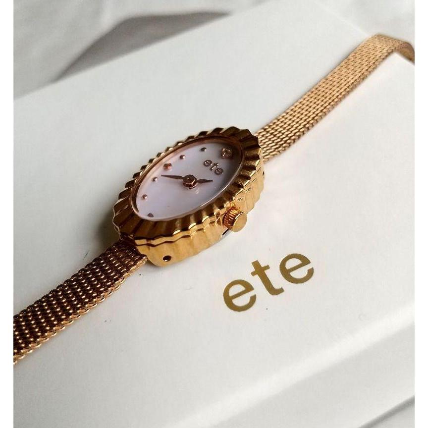 ete 真品 橢圓形特殊款 白蝶貝鑽石手錶 珍品 貝殼表正品 手錶 手表 agete nojess 細緻款