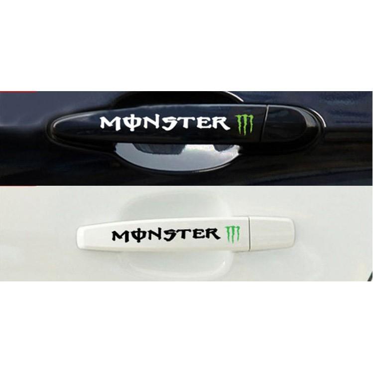 [Formula GP] Monster 鬼爪 一份4張 門把手 安全帽 後視鏡貼 雨刷貼 車貼貼紙