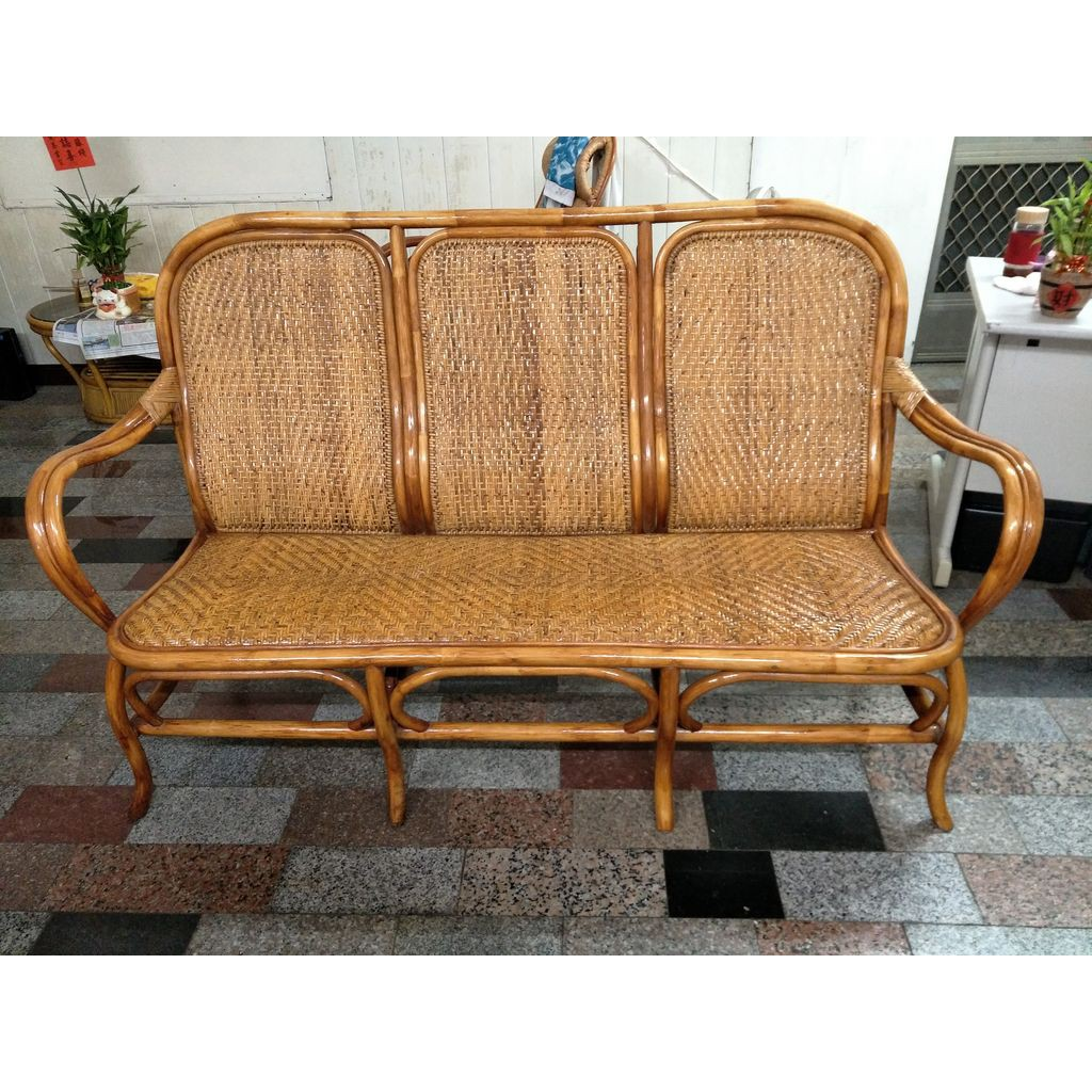 順木手工藤椅-吉利三人座籐椅-來店自取特價