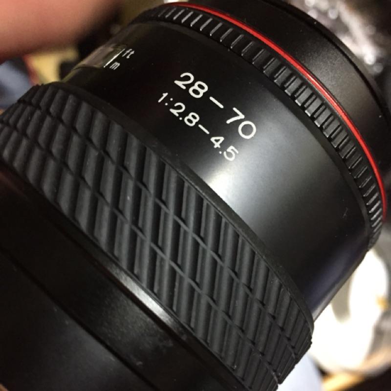 鏡頭 tokina 28 70mm f2.8-4.5 for Sony a Minolta 含前蓋 無後蓋