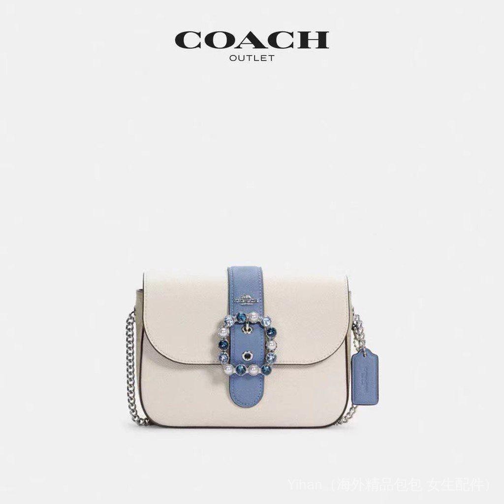 【海外直發】COACH/Disney Gemma鑽石扣 老花帆布 單肩包 斜挎包 鏈條包 馬鞍包 手機包 化妝包 SZ0