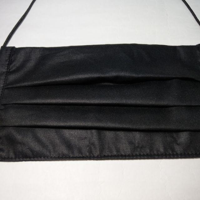 FEN手工小舖-M系列版本2-黑色加鼻樑片-加大版口罩下標區-此款可放入醫療口罩夾層布口罩-內層有夾層-放濾材-預訂款
