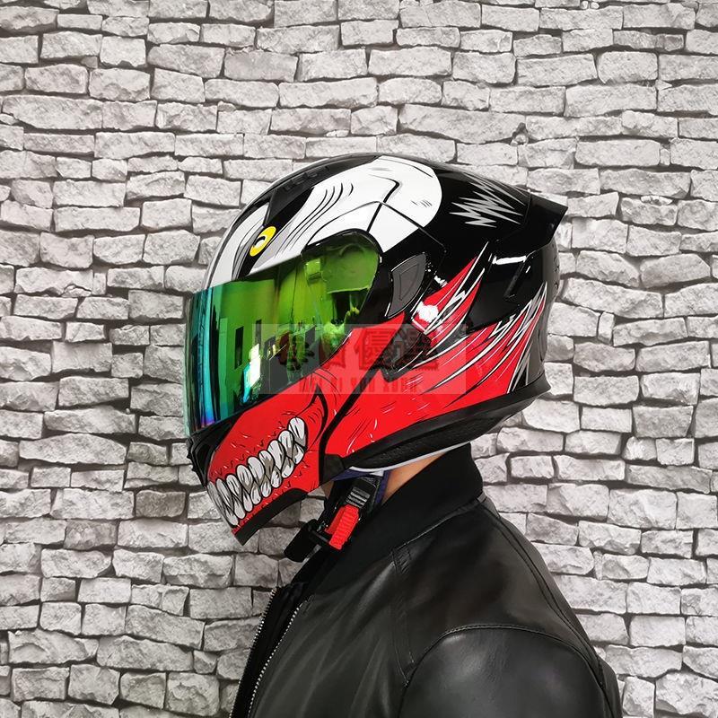 【現貨】Orz頭盔男女電動摩托車揭面盔全盔尾翼半盔安全帽個性冬季頭盔機車頭盔