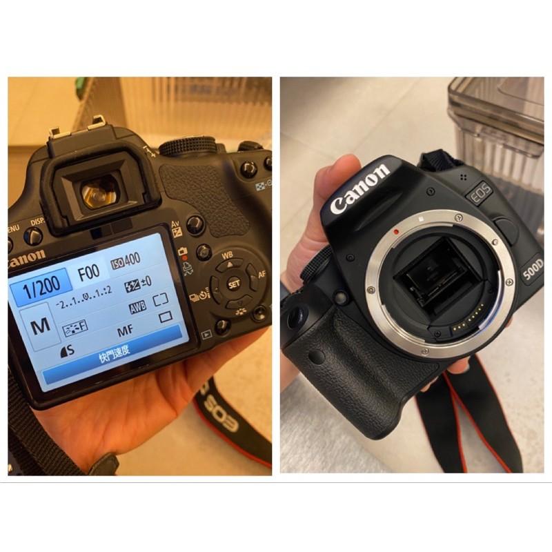 [二手]Canon 500D 單眼相機EF18-55/EF 50mmF1.8雙鏡頭