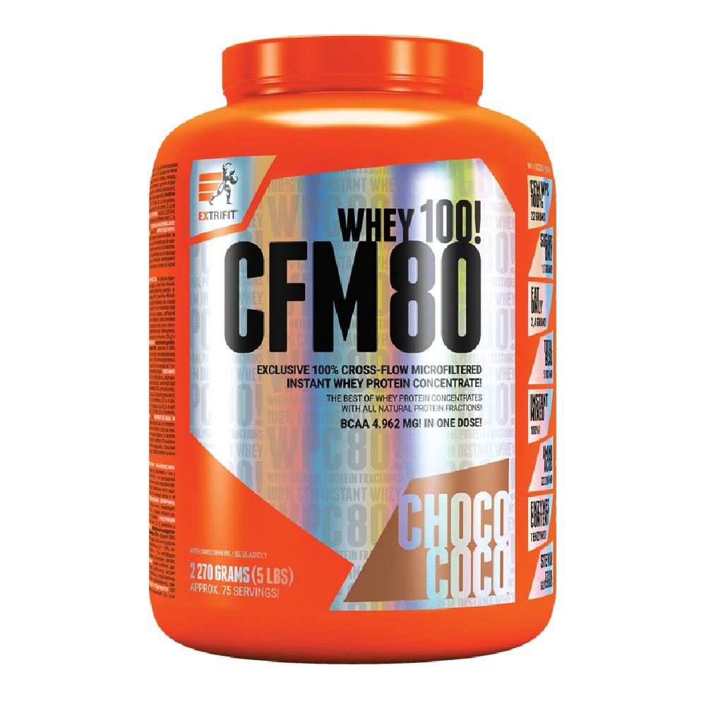 【捷克EXTRIFIT】100%CFM即溶分離乳清蛋白粉80 -巧克力椰子口味(2.27kg/罐)