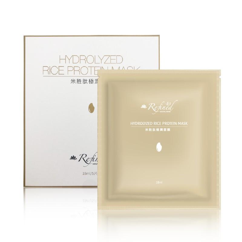 【蓮芳Refined】米胜肽極潤面膜 美麗小心肌