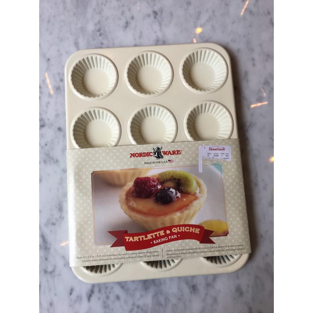 美國-Nordic ware-12連塔模烤盤-水果塔-美國製-蛋糕模-造型模具-特殊模具-立體感超棒