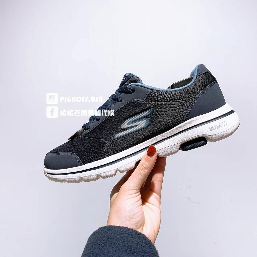 【豬豬老闆】SKECHERS GOWALK 5 深藍 透氣 休閒 運動 慢跑鞋 男鞋 55509NVY
