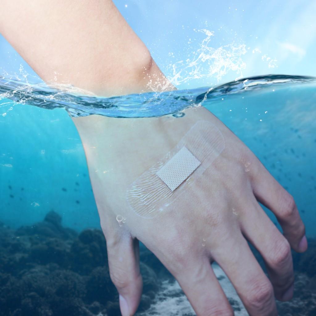现货❖◙創可貼防水貼透明透氣少女傷口洗澡醫用級可游泳創口貼ok繃100片