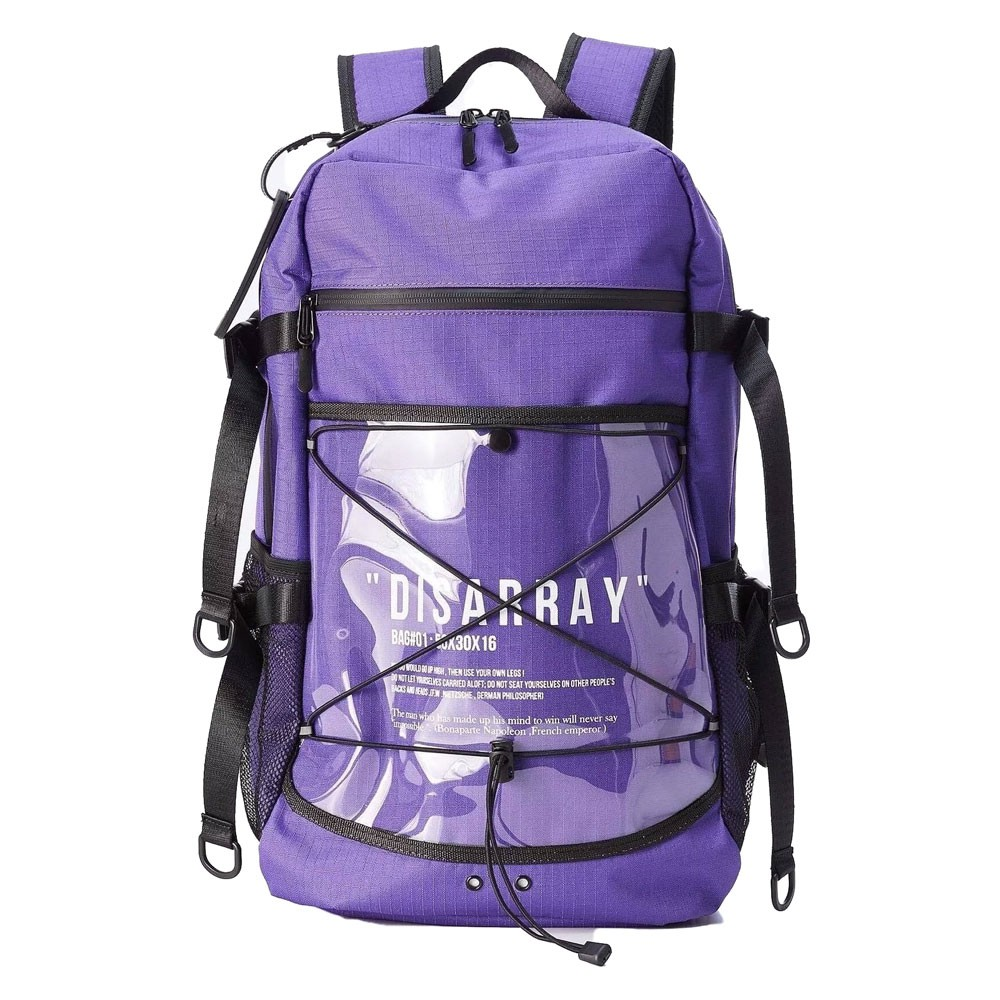 DISARRAY / Backpack Voyhger 多功能 機能型 後背包 (紫色) 化學原宿