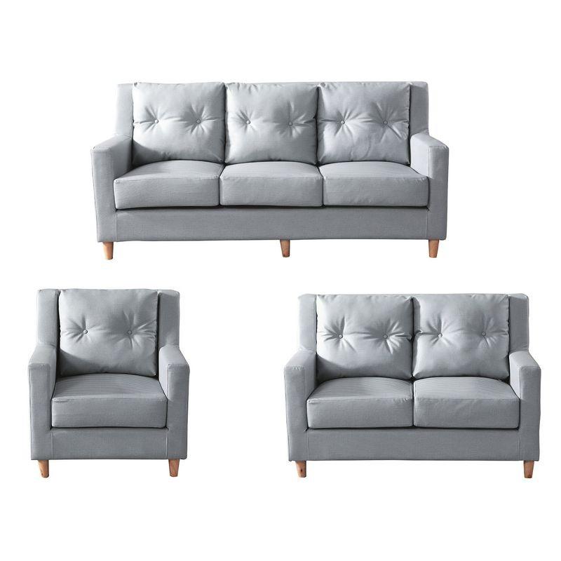 【YA310-1】上野灰色沙發單人椅
