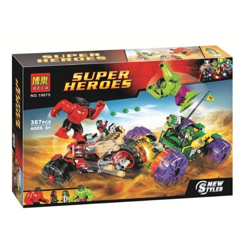 🔥免郵🔥兼容樂高復仇者聯盟綠巨人對戰紅巨人76078男孩拼裝積木玩具10675