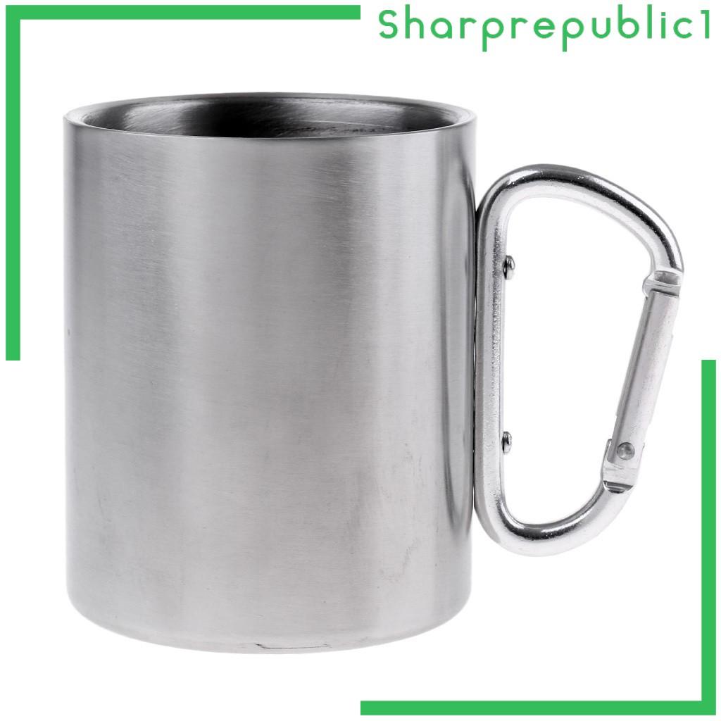 TREKKING [Shpre1] 便攜式旅行運動咖啡野餐杯露營徒步登山扣掛鉤杯