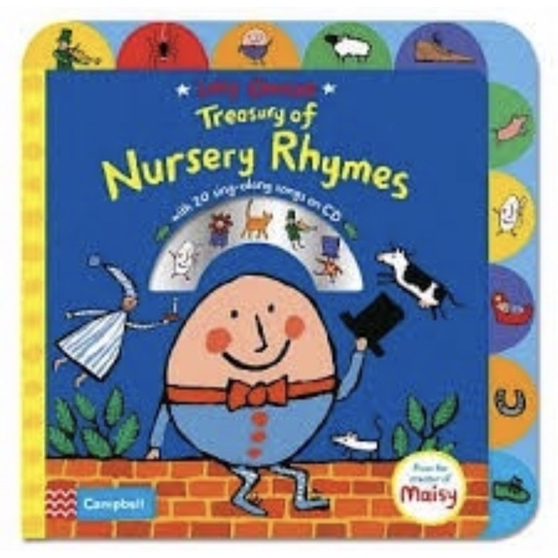近全新/小折痕 Lucy Cousins Treasury of Nursery Rhymes Book and CD
