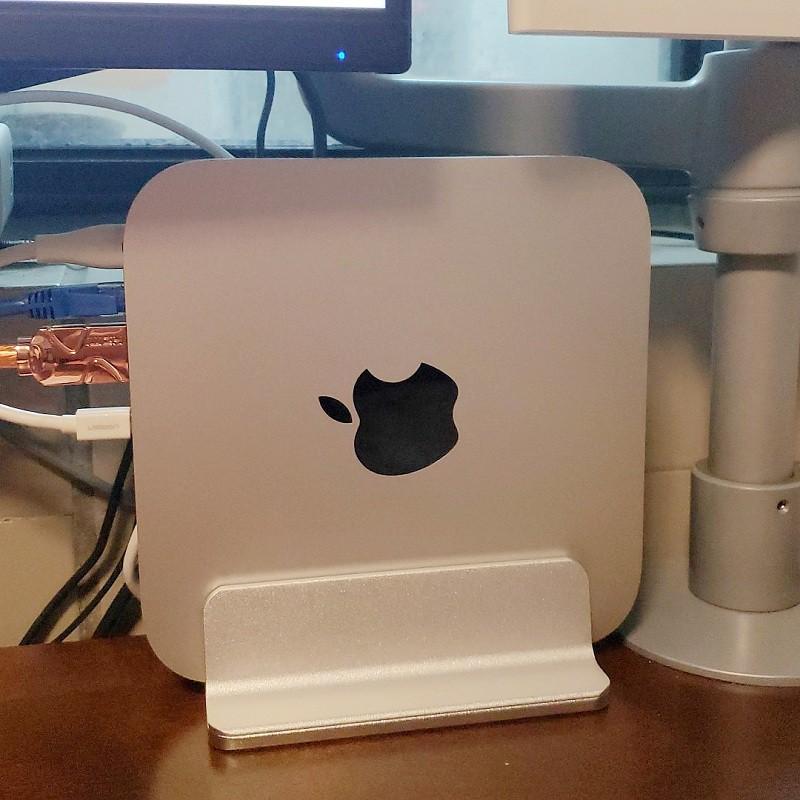 適用蘋果mac mini主機立式支架MacBook pro筆記本散熱托架收納架