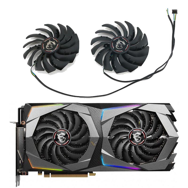 風扇 散熱風扇 顯卡 筆電散熱器▧﹍MSI微星RTX 2070 2070S GAMING Z/X魔龍顯卡風扇PLD1