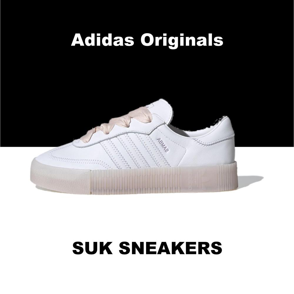SUK 代購 ♦️ Adidas Originals SAMBAROSE 白粉 白色 加厚外底 增高 FY3030