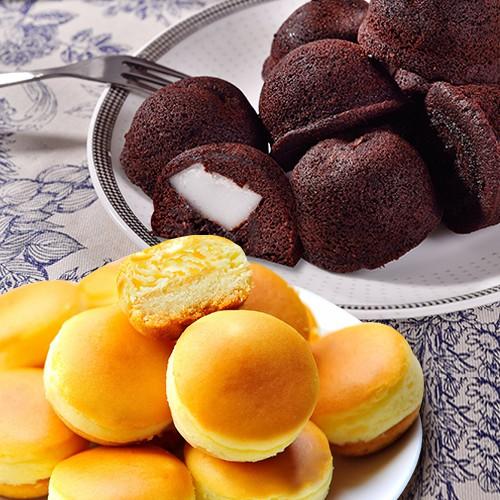 【大溪杏芳食品】QQ布朗尼一盒12入+原味乳酪球各一盒32入(含運)