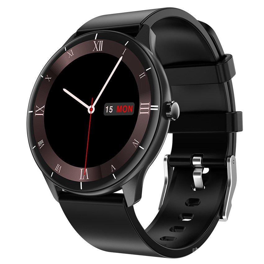 日本樂天新款智能手錶體溫心率血壓血氧24種運動模式圓屏手環Q21