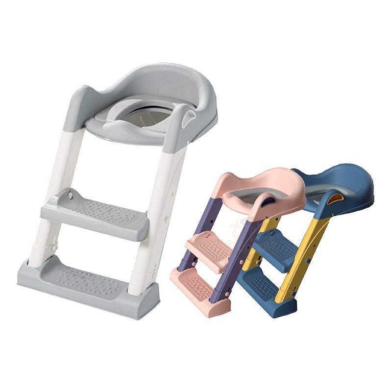 【現貨 免運-95%馬桶都適用】階梯式坐便器 兒童坐便器 坐便梯 雙層踏板 坐便器 階梯馬桶 小孩馬桶梯 軟式馬桶座