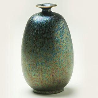 陶藝大師郭明本 錳七彩結晶釉瓷器 (小冬瓜瓶) 繽紛人生聚寶盆