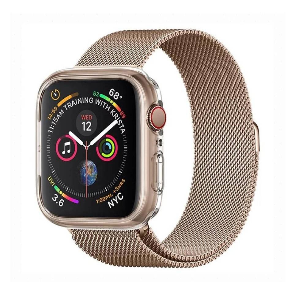 韓國 spigen Apple Watch Series 6/5/4 44mm Liquid Crystal 保護殼