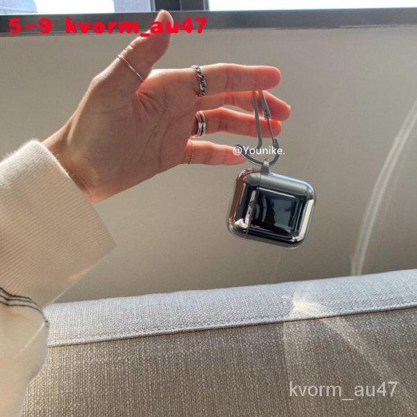 甜酷女孩電鍍科技感AirPods1/2無線藍牙保護套AirPods pro硅膠軟-BH
